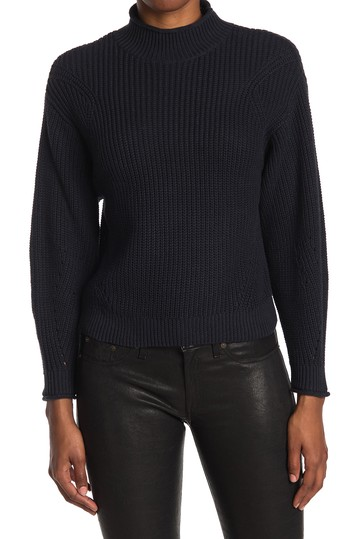 Easy Stitch Ribbed Knit Mock Neck Sweater Abound