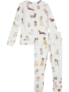 Coffee + Canines Peachy Two-Piece Jammie Set (Toddler/Little Kids/Bid Kids) P.J. Salvage Kids