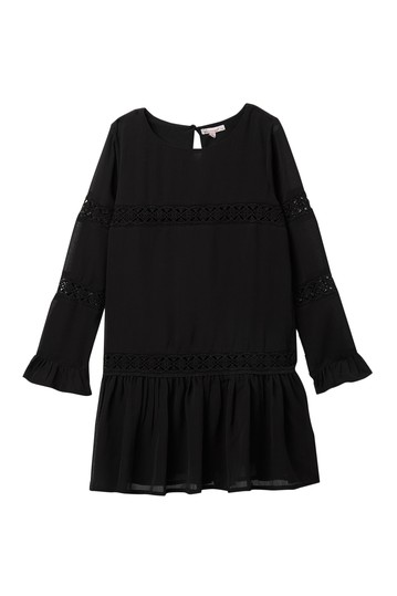 Crinkle Chiffon Lace Dress (Big Girls) Ella Moss