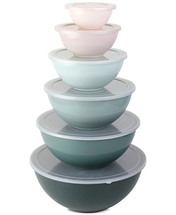 Cook With Color 12-Pc. Mixing Bowl Set with Lids ENCHANTE