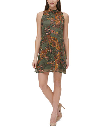 Paisley Mock-Neck Dress Tommy Hilfiger