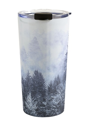Nature Magick Navy Forest Adventure Travel Mug Deny Designs