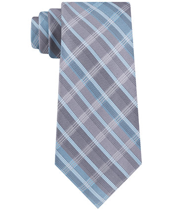 Men's Slim Highlight Plaid Silk Tie Calvin Klein
