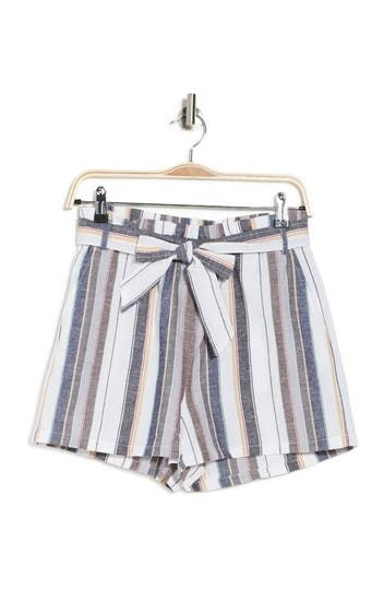 In Linen Stripe Printed Shorts BB Dakota