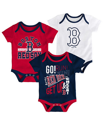 Baby Boston Red Sox Newest Rookie 3 Piece Bodysuit Set Outerstuff