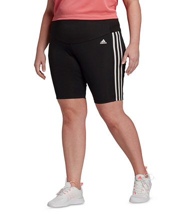 Plus Size High-Rise Short Sport Tights Adidas