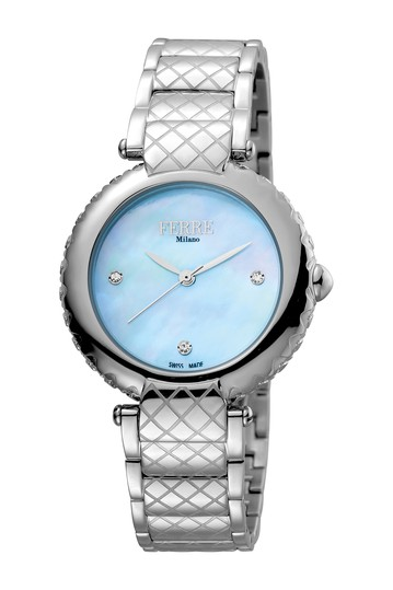Women's Crystal Embellished Mother of Pearl Bracelet Watch, 34mm Ferre Milano