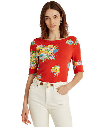 Floral Stretch-Infused Top Ralph Lauren