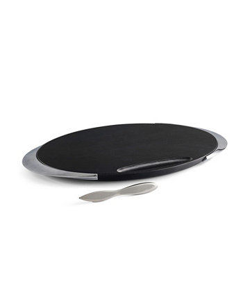 Noir Cheese Board with Knife Nambe