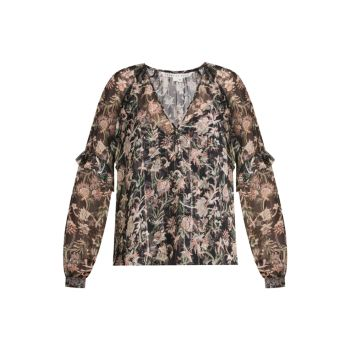 Zanita Silk-Blend Blouse VERONICA BEARD