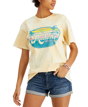Juniors' Cotton Malibu-Graphic T-Shirt Love Tribe