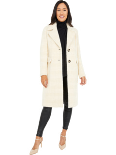 Single Breasted Wool Coat with Side Pockets Calvin Klein