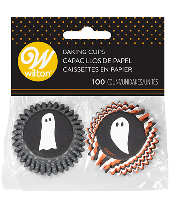 Halloween Ghosts Mini Baking Cups, Set of 100 Wilton