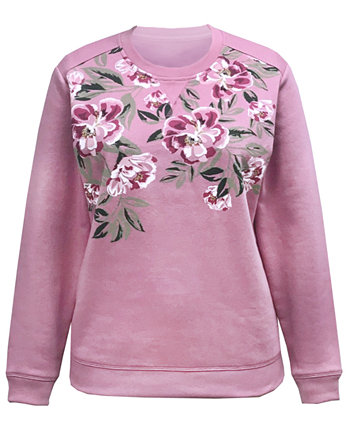 Floral-Print Sweatshirt, Created for Macy's Karen Scott