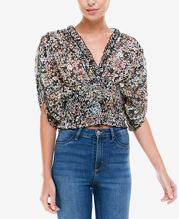 Smocked Floral-Print Top Q & A