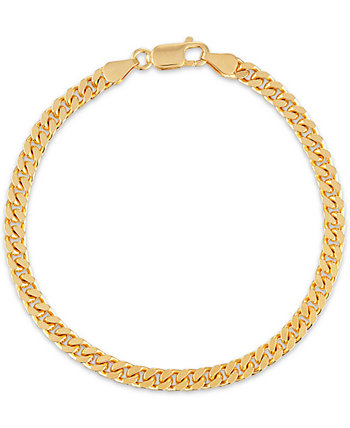 Curb Link Bracelet in 14k Gold-Plated Sterling, Created for Macy's Esquire Men's Jewelry
