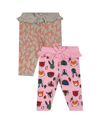 Earth Organic Baby Girl 2-Piece Breanna Leggings Set Earth by art & eden