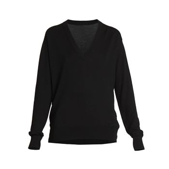 Button-Embellished Wool Silk Sweater Givenchy