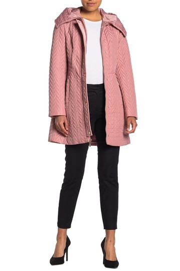 zipper front quilted coat Kate Spade New York