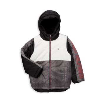 Boy's Colorblock Hooded Jacket Tommy Hilfiger