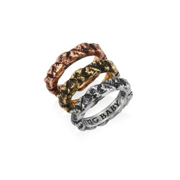 Sterling Silver Temple Ruin Multicolored Stacking Rings King Baby Studio