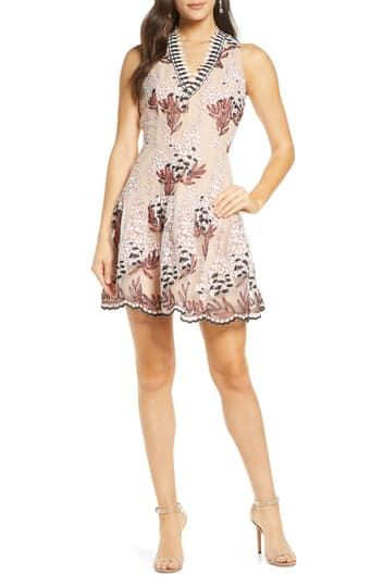 Embroidered Short Dress Harlyn