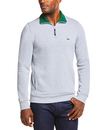 Men's Ribbed Quarter-Zip Cotton Sweatshirt Lacoste