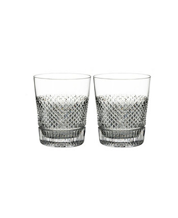 Diamond-Like Line Dof, Set of 2 Waterford