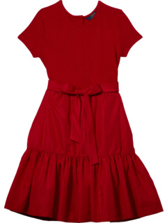 Knit to Woven Fit-and-Flare Dress (Little Kids/Big Kids) Ralph Lauren