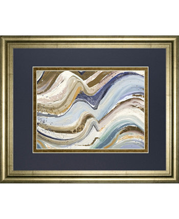 """Earth Tone New Concept by Patricia Pinto Framed Print Wall Art - 34"""" x 40"""" Classy Art"""