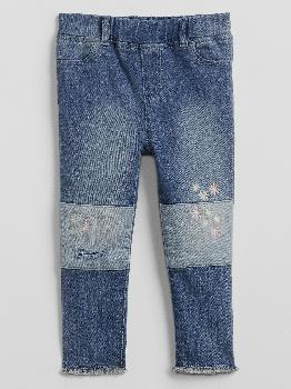 Toddler Embroidered Patch Legging Jeans with Stretch Gap Factory