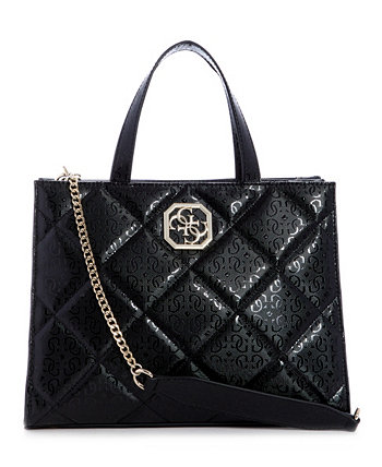 Dilla Quilted Logo Elite Society Satchel GUESS