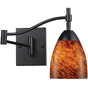 D Celina 1-Light Sconce in Dark Rust and Espresso Glass ELK Lighting