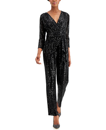 INC Long-Sleeve Banded Jumpsuit, Created for Macy's INC International Concepts
