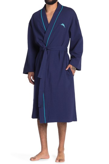 Contrast Trim Surfer Sold Knit Waffle Robe Tommy Bahama