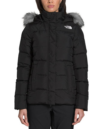 Women's Gotham Faux-Fur Trim Quilted Down Coat The North Face