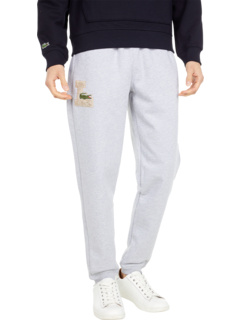 Solid Joggers with Logo Graphic Lacoste
