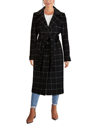 Single-Breasted Belted Maxi Coat Jones New York