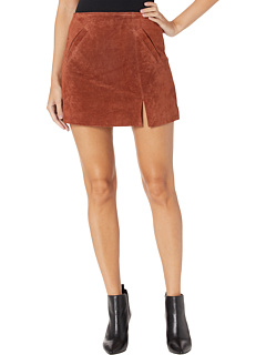 Suede Skirt w/ Side Slit Blank NYC