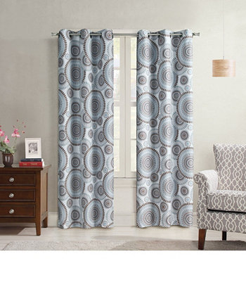 "Crushed Microfiber Starburst Window Panel, 40"" x 84"" Universal Home Fashions"