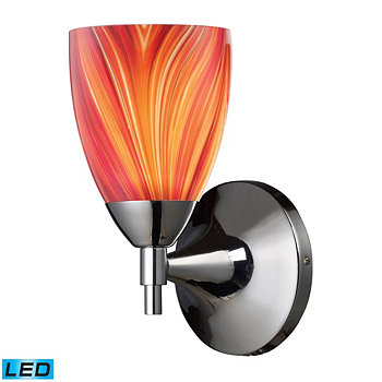 Celina 1-Light Sconce in Polished Chrome and Multi Glass - LED Offering Up To 800 Lumens (60 Watt Equivalent) ELK Lighting