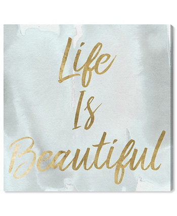"Life Is Beautiful Smokey Canvas Art, 12"" x 12"" Oliver Gal"