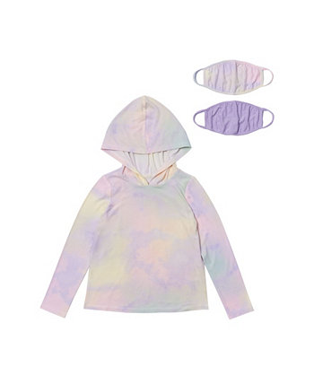 Toddler Girls Hooded Tee with Match Back Mask Epic Threads