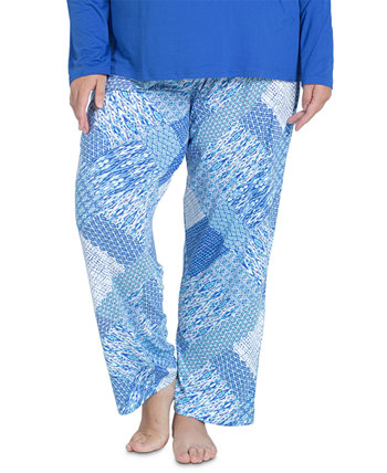 Plus Size Cool Girl Printed Pajama Pants MUK LUKS