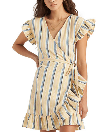 Wrap and Roll Striped Wrap Dress Billabong