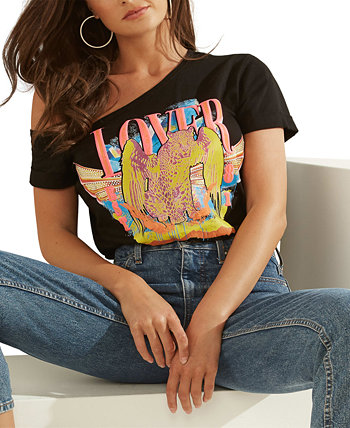 Off-The-Shoulder Graphic Lover Top GUESS