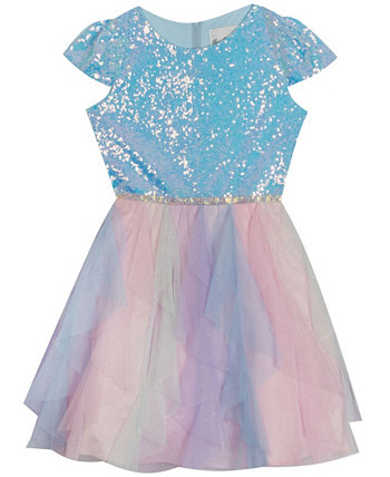 Big  Girl Glitter Cascade Dress Rare Editions