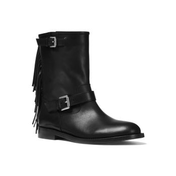 Ingrid Fringe Leather Moto Boots MICHAEL KORS COLLECTION