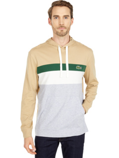 Long Sleeve Color-Blocked Hooded T-Shirt Lacoste