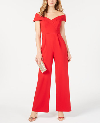 Petite Off-The-Shoulder Jumpsuit XSCAPE